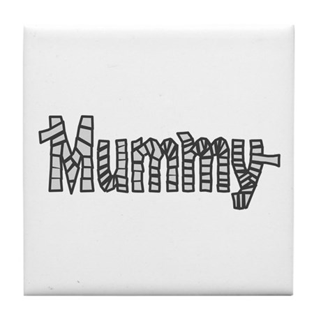 Mummy Halloween Tile Coaster