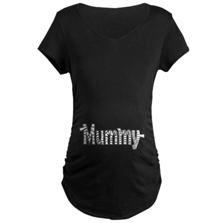 Mummy Halloween Maternity Dark T-Shirt