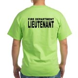 Fire Department Lieutenant T-Shirt