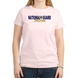 National Guard Mom Women's Pink T-Shirt