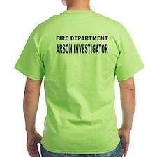 Fire Department Arson Investigator T-Shirt