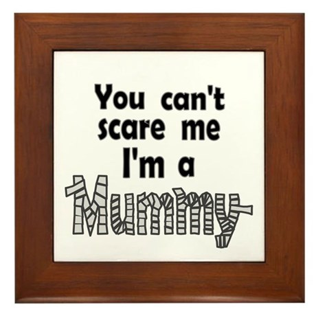 Scary Mummy Framed Tile