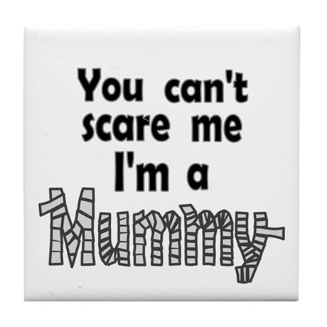 Scary Mummy Tile Coaster