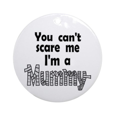 Scary Mummy Ornament (Round)