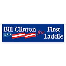 Bill First Laddie Bumper Car Sticker