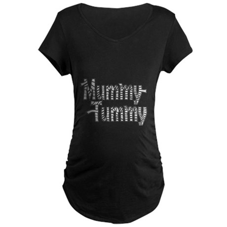 Mummy Tummy Halloween Maternity Dark T-Shirt
