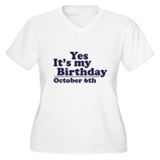 October 6th Birthday T-Shirt