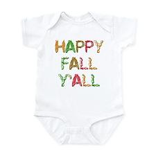 Happy Fall Y'all Infant Bodysuit