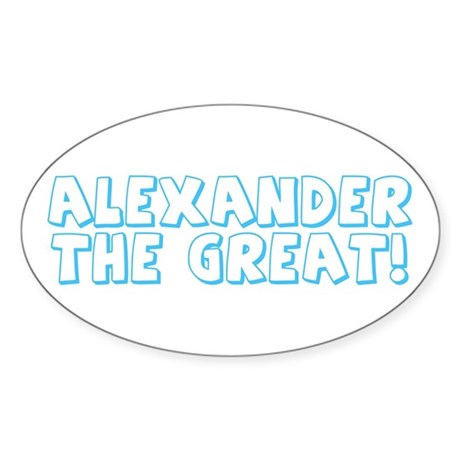Alexander the Great Oval Sticker