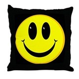 Smiley Face  Throw Pillow