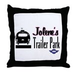 Jolene's Trailer Park Retro Throw Pillow