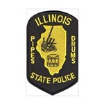 Illinois SP Pipes & Drums Rectangle Sticker