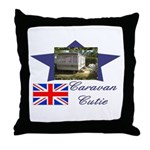Caravan Cutie Flag Throw Pillow