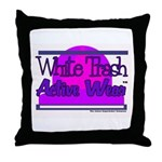 White Trash Active Wear Throw Pillow