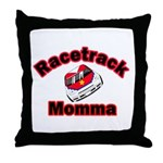 RaceTrack Momma Throw Pillow