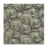 antoninianus of probus Tile Coaster