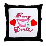 Sexy Dentist Throw Pillow