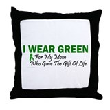 Green For Mom Organ Donor Donation Throw Pillow