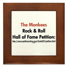 Monkees Rock & Roll Hall of F Framed Tile