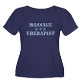 Camo Massage Therapist Women's Plus Size Dark Tee
