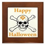 Masons Halloween Skull Framed Tile