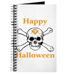 Masons Halloween Skull Journal