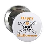 Masons Halloween Skull Button