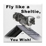 Shelties Fly- Agility Tile Coaster
