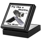 Shelties Fly- Agility Keepsake Box