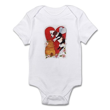 Jack Russell Terrier Bee-Dog Infant Bodysuit