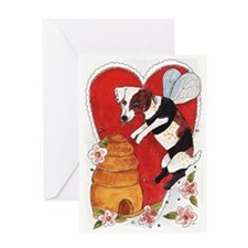 Jack Russell Terrier Bee-Dog Greeting Card