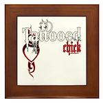 Tattooed Chick Framed Tile