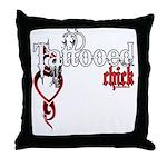 Tattooed Chick Throw Pillow