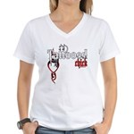 Tattooed Chick Women's V-Neck T-Shirt