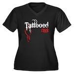 Tattooed Chick Women's Plus Size V-Neck Dark T-Shi