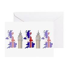 """""""Pixel UK/Big Ben"""" Greeting Card"""