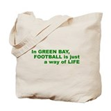 Football Green Bay Tote Bag