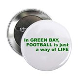Football Green Bay Button