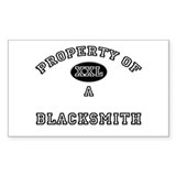 Property of a Blacksmith Rectangle Decal