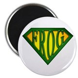 "SuperFrog(Green) 2.25"" Magnet (100 pack)"