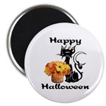 Halloween Black Cat Magnet