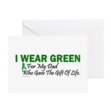 Green For Dad Organ Donor Donation Greeting Card