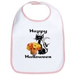 Halloween Black Cat Bib