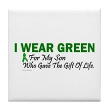 Green For Son Organ Donor Donation Tile Coaster