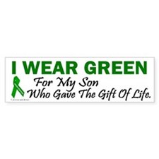 Green For Son Organ Donor Donation Bumper Sticker