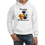 Halloween Black Cat Hooded Sweatshirt