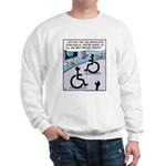 Handicap aliens searches for parking Sweatshirt