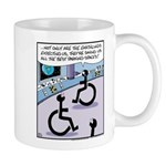 Handicap aliens searches for parking Mug