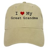 I Heart My Great Grandma Baseball Cap