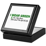 Green For Aunt Organ Donor Donation Keepsake Box